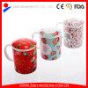 Alta qualità White Ceramic Coffee Mug con Print e Lid