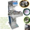 TM-C2-P zwei Farben-Tinten-Cup-Auflage-Drucker-Maschine mit Förderanlage