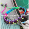 Los niños Shambala, violeta, pulseras, abalorios de cristal Glass Bead joyas (PB-091)