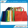 Bolsa de compras ecológica não tecida com cores diferentes