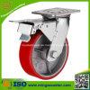 Gesamtbremsen-Hochleistungslaufkatze PU-Reifen-Rad-Fußrolle