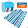 시골 Blue 및 Red Color Bar Microfiber Picnic Blanket