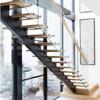 Escalera de cristal del pasamano del diseño de las solas del acero suave escaleras profesionales del larguero