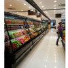 Refrigerador abierto de la visualización de la refrigeración por aire para la descongelación auto del escaparate de la lechería de la bebida