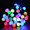 RGB Lichten van de Vakantie van de Decoratie van de Partij van Kerstmis van het Koord van de Bal van 10m Lichte