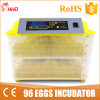Aprovado pela CE ovos incubadora digital automática 96 ovos (YZ-96)