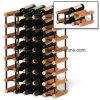 Cremagliera del vino del legname di immagazzinamento in la bottiglia del metallo e di legno di Bordex DIY