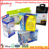 Pet transparente de PVC/Cosmética APET/caja de embalaje de plástico con el colgador