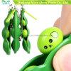 3 brinquedos da inquietação do alívio de esforço Keychain do feijão de soja do Espremer-um-Feijão do PCS