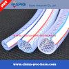 Tuyau renforcé en fibre de tresse en plastique transparent / transparent en PVC