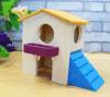 햄스터 나무로 되는 예쁜 마우스 집 은신처
