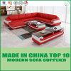 Base de sofá de madera del cuero genuino de la sala de estar