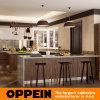 Oppein Landhaus-Entwurfs-hölzerner Korn Belüftung-Lack-Küche-Schrank (OP16-Villa1)