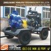 Bomba de agua de riego autocebante de refrigeración por agua Diesel sobre ruedas