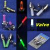 Luz azul/vermelha/verde/amarelo/a branca mini do diodo emissor de luz da roda do pneu da bicicleta da válvula