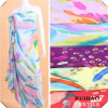 Lady의 Fashion Scarf /Dress /Shirt/ Blouse를 위한 폴리에스테 한국 Fabric Chiffon