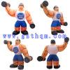 Modèle gonflable de dessin animé d'homme de muscle