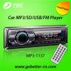 Coche audio MP3 del coche con el precio bajo portuario de radio teledirigido MP3-1137 de Am/FM USB/SD Bluetooth
