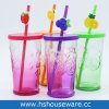 16oz цветные стекла Мейсон Jar кружка с РР крышки багажника