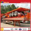 Rimorchio del camion del contenitore della base piana di alta qualità 20-53FT semi con la piattaforma a base piatta del carico