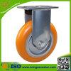 Handlaufkatze-industrielle Fußrolle elastisches PU-Aluminium-Rad