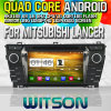 Witson S160 Car DVD GPS Player para Mitsubishi Lancer com a semente do Espelho-Link de Core HD 1024X600 Screen 16GB Flash 1080P WiFi 3G Front DVR DVB-T do quadrilátero Rk3188 (W2-M171)