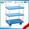 3つの層の頑丈なローディングの商品を運ぶプラスチック商品のトロリー