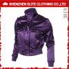 Женщины куртки бомбардировщика сатинировки способа высокого качества пурпуровые (ELTBJI-62)