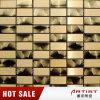 Mosaico de aço inoxidável de cor de ouro de classe alta