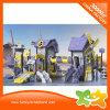 2017 glissière extérieure de moulin à vent pourpré et jaune pour des enfants