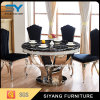 Elegante conjunto de jantar grande mesa de jantar em mármore