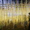 Het LEIDENE Gordijn van Kerstmis steekt de LEIDENE Lichten van de Ijskegel voor OpenluchtLichten aan toont
