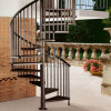 고대 옥외 층계 최신 직류 전기를 통하기 금속 나선형 계단
