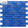 Mosaico blu della piscina di colore della fabbrica di rettangolo della miscela all'ingrosso di figura