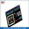 Индикация Customeried LCD с белыми этапами черноты предпосылки