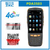 PDA Zkc3503 de cuádruple núcleo Qualcomm 4G Android 5.1 Wireless Handheld Qr scanner de códigos de barras 1D
