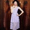 Yigelila neue reizvolle Form-Frauen-Höhlung-purpurrotes Kleid