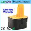 12V Ni-MH Power Tool Battery voor Dewalt DC9071 (Yellow+Black)