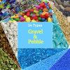 De kleurrijke Toebehoren van het Aquarium van de Kiezelsteen van het Grint van het Aquarium