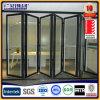 Aluminium Intérieur Porte de verre pliante 2.0mm Epaisseur avec écran