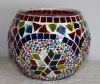 Turco único mosaico de vidrio artesanales de la luz de Té mayorista Portavelas