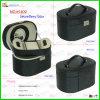 Luxuriöses schwarzes ledernes Armband-Shell-hängender Schmucksache-Kasten (5409)