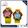 Vigilanza promozionale del quarzo di schiaffo del silicone della vigilanza del braccialetto