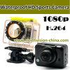 1080P impermeável WiFi Sports Camera H. 264
