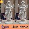 Nortonは球Ntms0117Lで置かれる大理石のかわいく小さい天使の音楽家の彫刻を手切り分けた