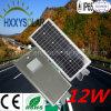 2017 calle ligera solar integrada 12W de la venta caliente LED