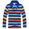 Chemise de polo barrée de la douille des hommes longue
