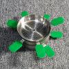 Waterpijp Shisha van de Pijp van het Glas Cigarett van de Waterpijp van het Glas van de Kom van Shisha Sisha Nargile van de Waterpijp van het Silicone van de Kom van Nargile van Tabacco de Materiële Vastgestelde Mini Elektronische Rokende