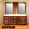 Oppein chinesische Art-rote Erle-hölzerne Badezimmer-Schränke (OP15-053A)