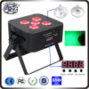 5PCS 6in1 Rgbwauv LED PAR para DJ Lights
